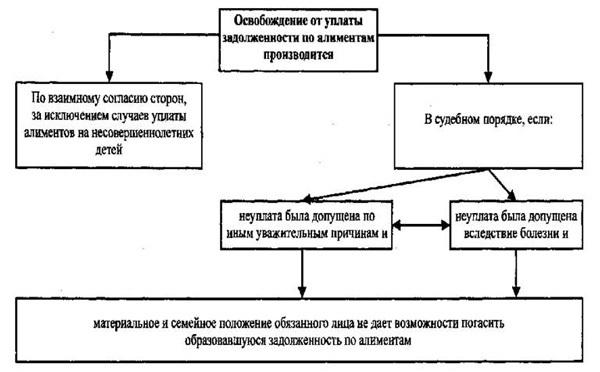 Освобождение от уплаты задолженности по алиментам, Иск об освобождении от уплаты алиментов (образец) 2019